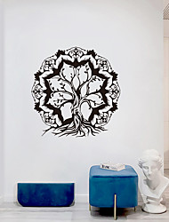 cheap -Creative Personality Tree Of Life Mandala Culture Yoga Home Background Decoration Can Be Removed Stickers 56*57CM