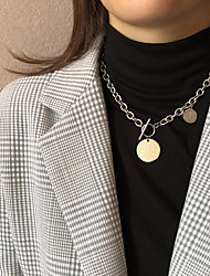 cheap -Men's Women's Choker Necklace Chain Necklace Drop Vintage Punk Trendy Fashion Stainless Steel Silver 42 cm Necklace Jewelry 1pc For Christmas Gift Masquerade Birthday Party Festival / Chains