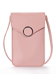 cheap -Women's Bags Faux Leather Mobile Phone Bag Plain 2020 Daily Wine Black Blushing Pink Dusty Rose