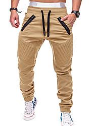 cheap -Men's Active / Basic Chinos wfh Sweatpants - Solid Colored Gray Army Green Khaki XL XXL XXXL