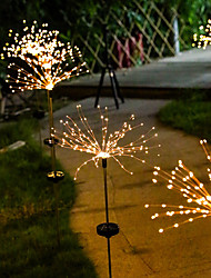 cheap -Outdoor Solar String Light 1X 2X IP65 Fireworks 120 LEDs Fairy Xmas Light For Home Garden Street Yard Lawn Colorful Decoration Lighting Christmas New Year Outdoor Party Lamp Garden Light