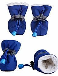 cheap -winter pet shoes anti-slip waterproof small dog rain snow boots thick warm footwear puppy socks