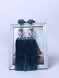 cheap -2Pcs Rope Curtain Tieback Curtain Tassels Fringe Tie Backs Holdbacks Window Drapes Curtain Supplies Rope Room Accessories