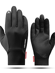 cheap -CoolChange Touch Gloves Anti-Slip Windproof Warm Fitness Full Finger Gloves Sports Gloves Black for Outdoor Exercise Multisport Cycling / Bike