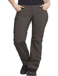 cheap -women's convertible hiking pants, lightweight stretch quick dry zip off pants, outdoor trekking fishing safari pants, convertible(wxp405) - brown, regular_14