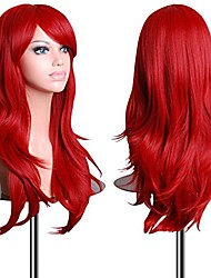cheap -wigs 28 inch cosplay wig for women with wig cap and comb (red)