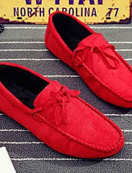 cheap -Men's Loafers & Slip-Ons Suede Shoes Driving Shoes Daily PU Red Gray Black Fall