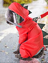 cheap -Dog Rain Coat Solid Colored Basic Casual / Daily Dog Clothes Puppy Clothes Dog Outfits Waterproof Yellow Red Costume for Girl and Boy Dog Waterproof Material S M L