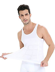 cheap -compression shirts for men, tummy control and, white, size large