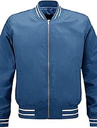 cheap -men's lightweight jacket outdoor breathable coat causal jacket for baseball golf long sleeve sportswear blue