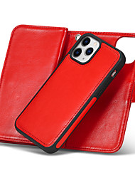 cheap -Phone Case For Apple Full Body Case Wallet Card iPhone 12 Pro Max 11 SE 2020 X XR XS Max 8 7 6 Wallet Card Holder Shockproof Solid Colored PU Leather