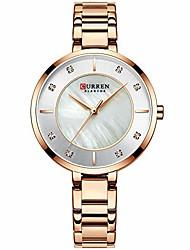 cheap -woman watches rose gold top brand luxury watch women quartz waterproof women's wristwatch ladies girls watches clock (rose gold white)