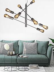 cheap -8-Light 63.5 cm Sputnik Design Chandelier Metal Glass Island Electroplated Modern Nordic Style 110-120V 220-240V