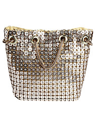 cheap -Women's Bags Polyester Alloy Evening Bag Crystals Sequin Sequin Crystal / Rhinestone Rhinestone Wedding Bags Wedding Party Black Gold Silver