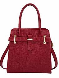 cheap -aieason women handbag shoulder bags pu leather top-handle hobo bags purses leather (11.02x3.15x7.1inch, red)