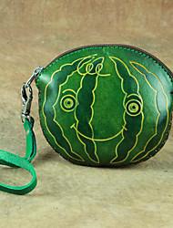 cheap -Women's Bags Cowhide Coin Purse Wallet Wristlet Bag Pattern / Print Watermelon 2021 Shopping Daily Green