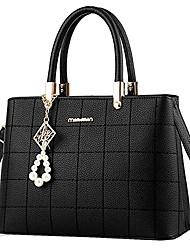 cheap -womens plaid pu leather satchel handbags purse crossbody shoulder bags