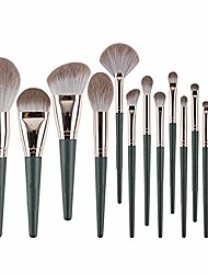 cheap -makeup brushes- makeup brush set log brush handle comfortable and easy grip aluminum tube not easily deformed brush pack, 14 pcs (color : a, size : 14 pcs)
