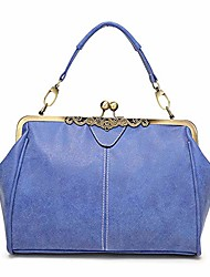 cheap -women vintage handbag kiss lock shoulder purse satchel retro tote messenger bag, green, 1