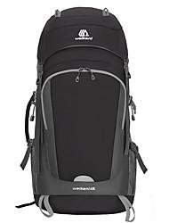 cheap -70 L Hiking Backpack Rucksack Multifunctional Rain Waterproof Dust Proof Wear Resistance Outdoor Camping / Hiking Climbing Black Blue Orange
