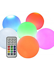 cheap -6pcs Waterproof LED Swimming Pool Floating Ball Lamp RGB with Remote Indoor Outdoor Home Garden KTV Bar Wedding Party Decorative Holiday Lighting
