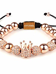 cheap -imperial crown king cz bracelets luxury fashion charm 18kt rose gold plated jewelry for men women