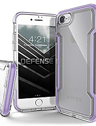 cheap -, compatible with apple iphone se/8/7, defense clear - military grade drop protection, clear protective case for iphone se/8/7 (purple)