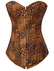 cheap -women's sexy leopard waist training corset top for weight loss m