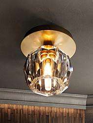 cheap -12 cm LED Crystal Corridor Ceiling Light Nordic Unique Design Flush Mount Lights Brass 110-240 V