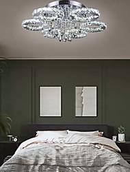 cheap -1-Light 80 cm Crystal / LED Flush Mount Lights Metal Chrome Modern Contemporary 110-120V / 220-240V
