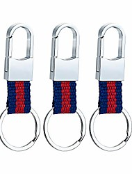 cheap -metal carabiner colorful clip keyring keychain key ring chain holder organizer for car (3-pack)