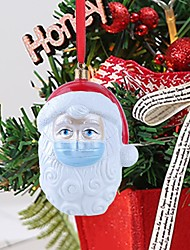 cheap -filol christmas tree ornaments 2020 santa ornaments santa claus wearing face_mask christmas decorations, christmas hanging ornaments holiday decor creative blessing gifts for family friend (b, 1 pc)