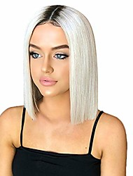 cheap -wigs,sexy women gradient color short straight synthetic hair full wigs natural looking short bob straight wigs