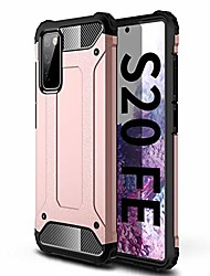 """cheap -heavy duty protection case for galaxy s20 fe case with four bumper, 15ft military grade drop tested dual layer phone cover compatible with samsung galaxy s20 fe [6.5""""] (rose gold)"""