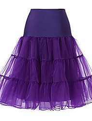 cheap -women's plus size 50s vintage tutu skirt petticoat rockabilly crinoline underskirt purple 3xl