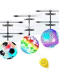 cheap -Flying Gadget Flying Toy Hand Operated Drones Helicopter Football Spacecraft Rechargeable with Infrared Sensor with LED Light Plastic Shell Kid's Adults Boys and Girls Toy Gift 3 pcs