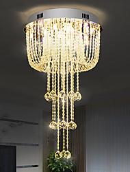 cheap -50cm LED Crystal Chandelier Dimmable Modern Luxury Ceiling Light Flush Mount Lights Stainless Steel Electroplated 110-120V 220-240V