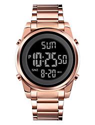 cheap -SKMEI Men's Sport Watch Digital Digital Modern Style Stylish Outdoor Calendar / date / day Chronograph Alarm Clock / One Year / Stainless Steel