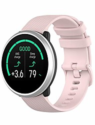cheap -silicone sport watchband replacement band accessory watch strap bracelet compatible for polar ignite fitness watch (pink)