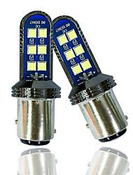 cheap -OTOLAMPARA 2 Units LED DRL Bulb 1157 12W 3030 Top Lens Spotlight BAY15D LED Bulb 1/1 Halogen Bulb Size 50000hrs Lifespan Plug and Play Installation Car P21/5W LED Bulb 6000K White Color Lightness