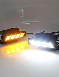 cheap -2Pcs LED Daytime Running Light LED Turning Signal Light Fog Lamp Car Flashing For Toyota Land Cruiser Prado 03-09