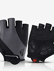 cheap -Bike Gloves / Cycling Gloves Breathable Quick Dry Wearable Fingerless Gloves Sports Gloves Yellow Grey for Adults' Outdoor Exercise Cycling / Bike
