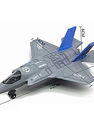 cheap -pull back car, model car, model car kits, large alloy pull back f-35 fighter aircraft model music led airplane toy gift- gift for kids aged 3+ light blue