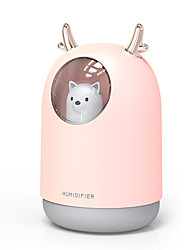 cheap -Home Appliances USB Humidifier 300ml Cute Pet Ultrasonic Cool Mist Aroma Air Oil Diffuser Romantic Color LED Lamp Humidificador
