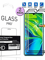 cheap -[2 pc]  suitable for xiaomi mi note 10 screen protector tempered glass [3d curved] [full coverage] anti-scratch easy installation phone protective film