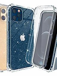cheap -Phone Case For Apple Full Body Case Shockproof Glitter Shine