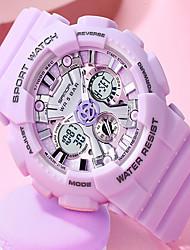 cheap -SANDA Women's Digital Watch Digital Digital Vintage Style Classic Water Resistant / Waterproof Calendar / date / day Large Dial / One Year / Rubber