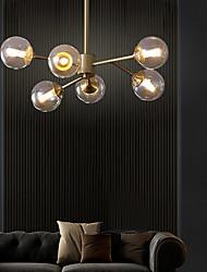 cheap -6-Light 60 cm Flush Mount Lights Metal Glass Sputnik Brass Nordic Style 110-120V / 220-240V