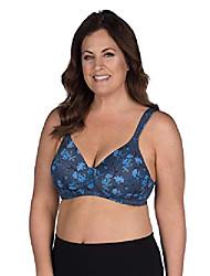 cheap -leading lady women's plus-size underwire padded t-shirt bra, deep ultramarine, 46b