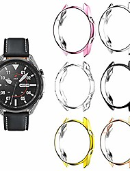cheap -case covers compatible with samsung galaxy watch 3 41mm case, shock-proof cover tpu protective bumper shell for galaxy watch 3 sm-r850/sm-r840 (black/silver/rosegod/gold/pink/clear, watch3 41mm)